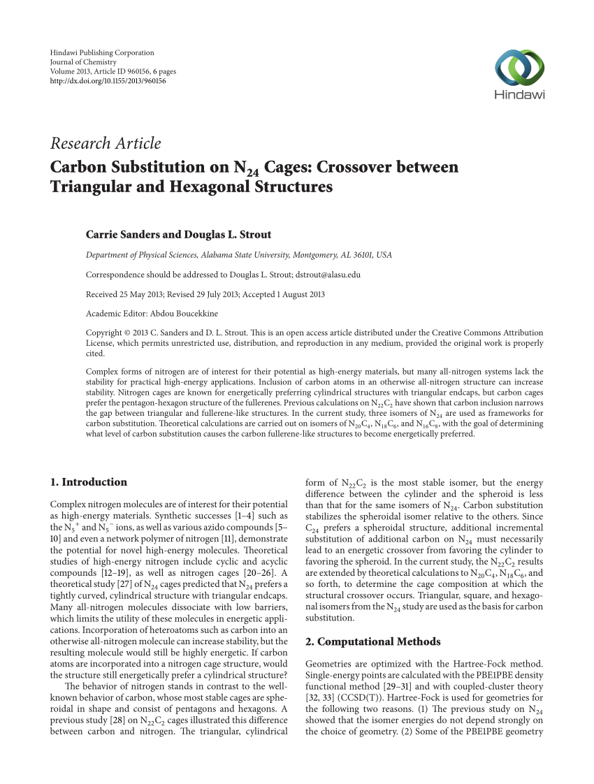 N24 D Pdf Carbon Substitution On N24 Cages Crossover Between