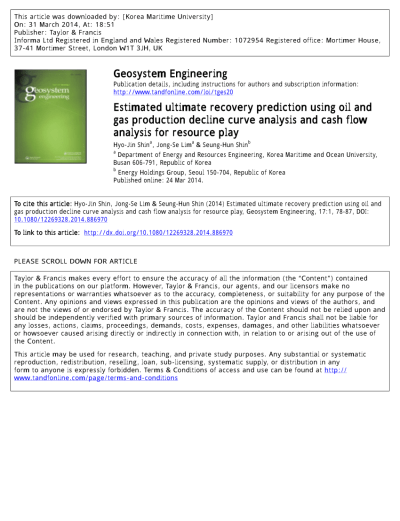 (PDF) Estimated ultimate recovery prediction using oil and gas production decline curve analysis ...