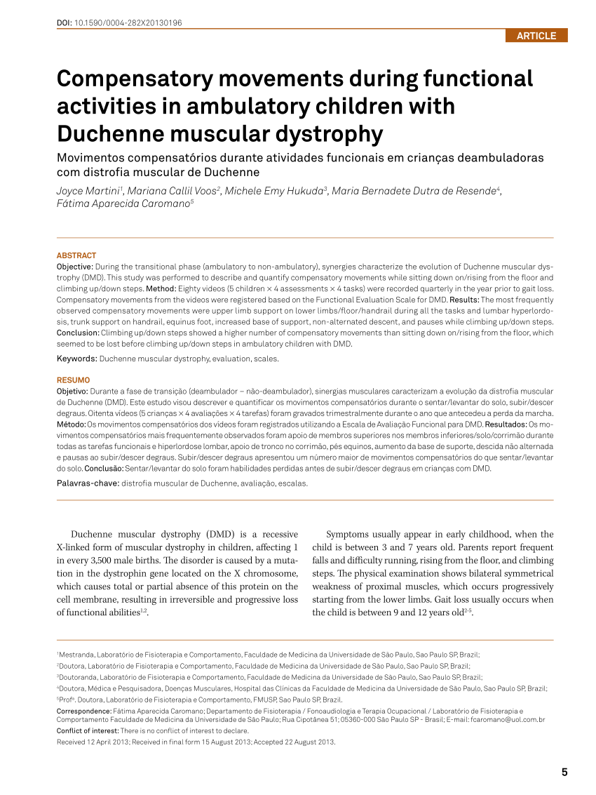 Duchenne Muscular Dystrophy Symptoms Toddlers Pdf The Clinical Relevance Of Timed Motor Performance In Children