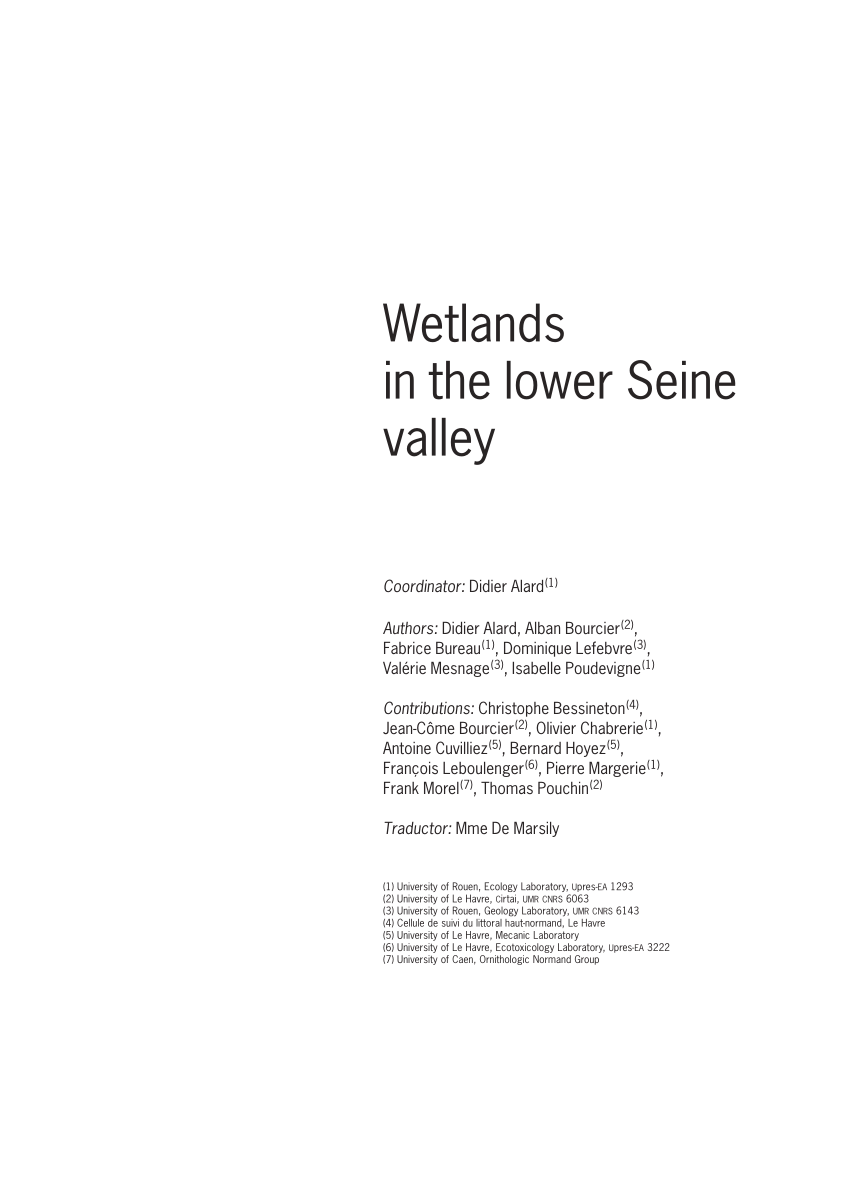 Bureau Le Havre Pdf Wetlands In The Lower Seine Valley
