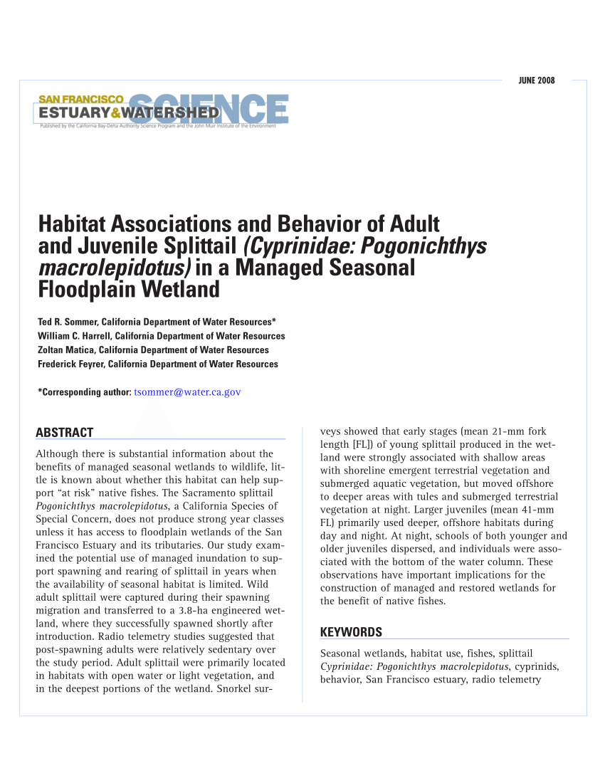 Habitat Outlet Hamburg Growth And Habitat Separation In Eight Cohorts Of Three Species Of