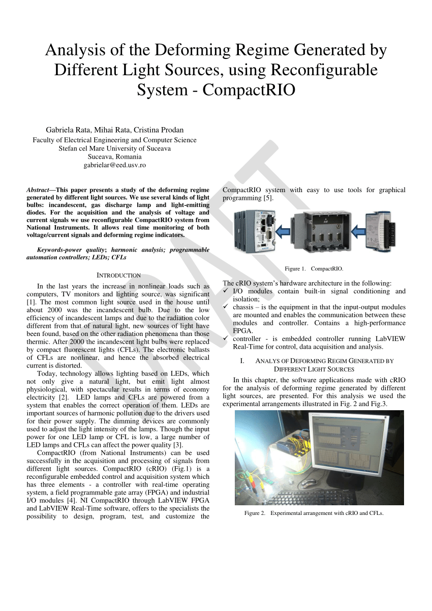 Compactrio System On Module Pdf Analysis Of The Deforming Regime Generated By Different