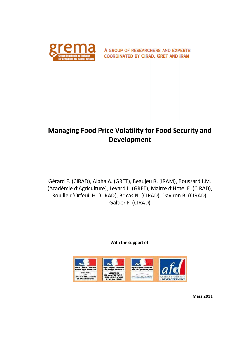 Cash Pool C'est Quoi Pdf Managing Food Price Volatility For Food Security And Development