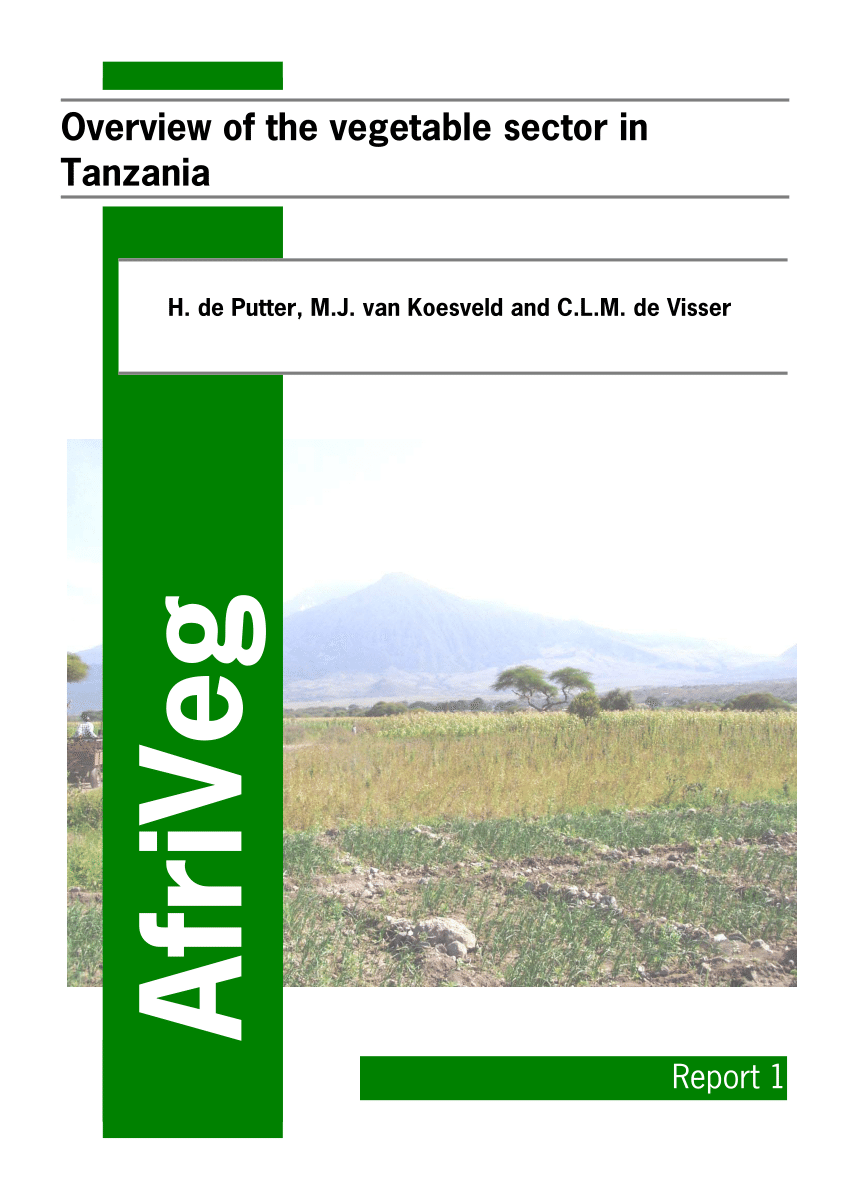 Wholesale Suppliers In Tanzania Pdf Overview Of The Vegetable Sector In Tanzania