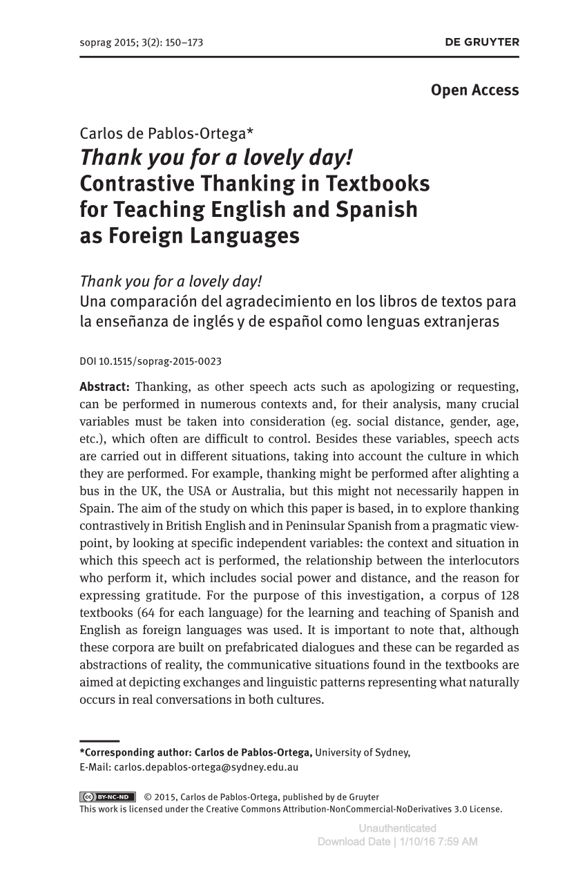 Libros B2 Ingles Pdf Pdf Thank You For A Lovely Day Contrastive Thanking In