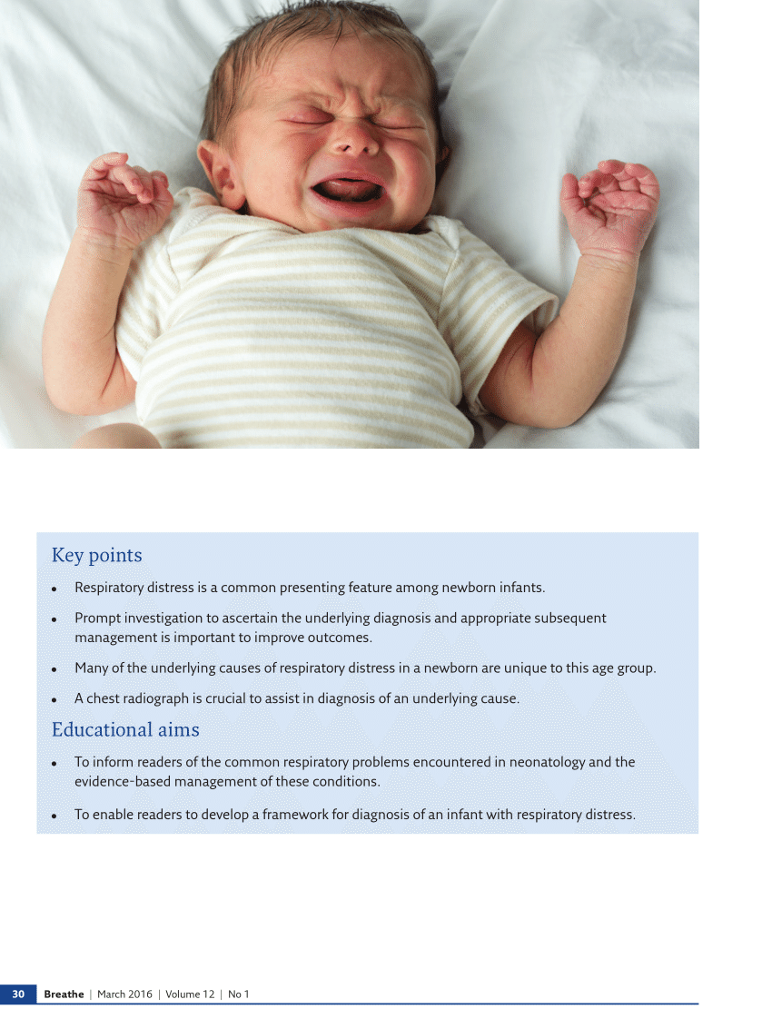 Newborn Infant Normally Suffer From Pdf Common Respiratory Conditions Of The Newborn
