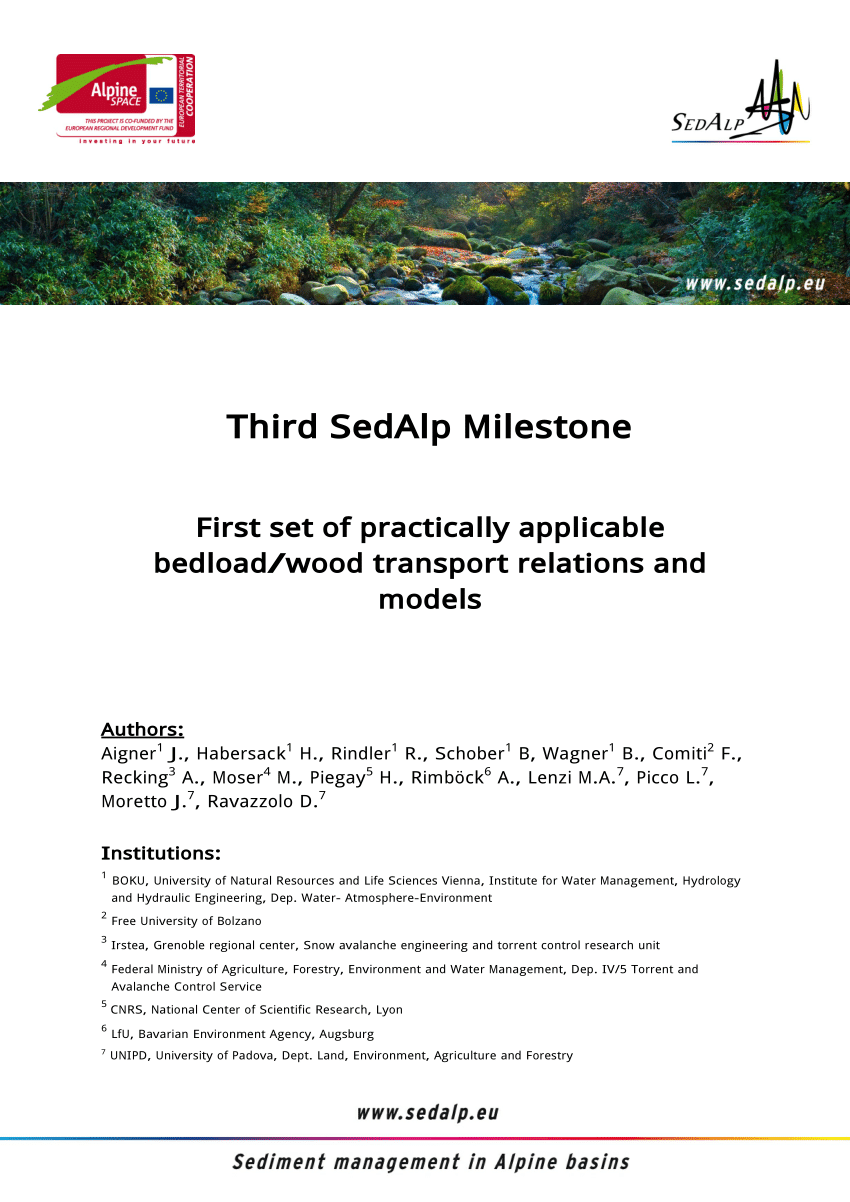 Pool Rund M3 Berechnen Influence Of Sediment Supply On Mountain Streams Bedload Transport