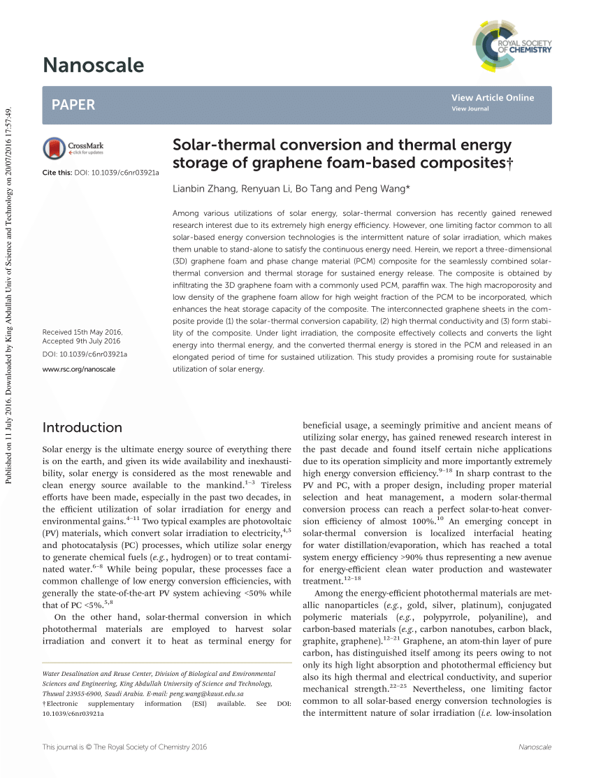 Ruoff Solar Hierarchically Interconnected Porous Scaffolds For Phase Change