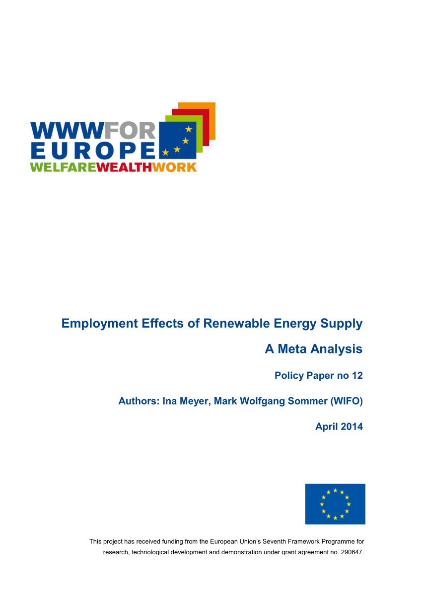 Pool Wärmepumpe Prime 8 Pdf Employment Effects Of Renewable Energy Deployment A Review