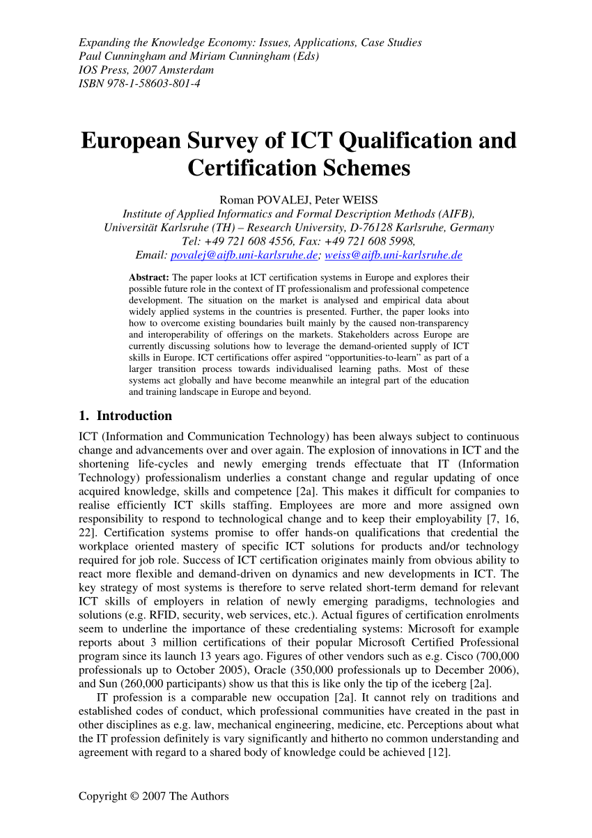Arbeitsagentur Indeed Pdf Ict Certification In Europe