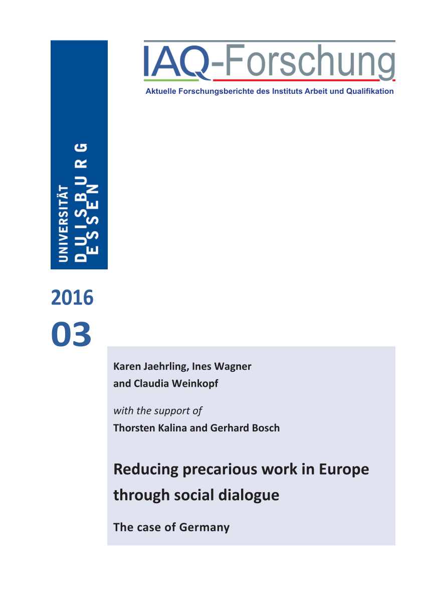 Arbeitsagentur Indeed Pdf International Trends In Insecure Work A Report For The