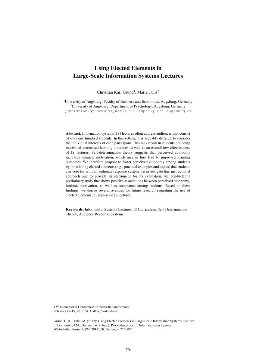 Elements Augsburg Pdf Using Elected Elements In Large Scale Information Systems