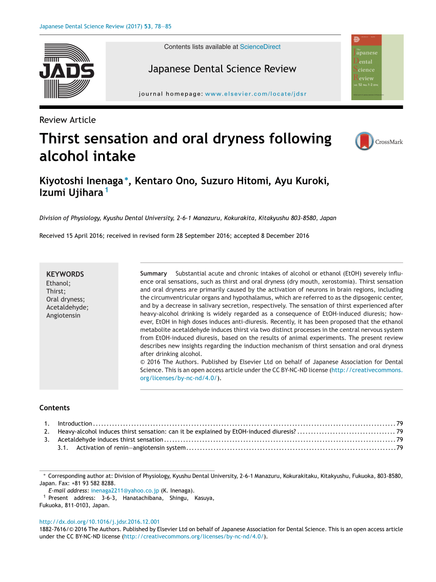 Arte Dental Mckinney Reviews Pdf Thirst Sensation And Oral Dryness Following Alcohol Intake