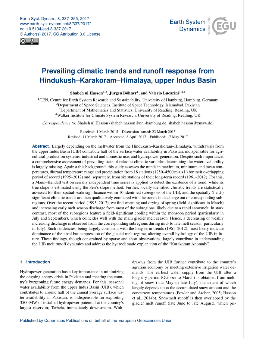 Himalaya Hamburg Climate Change And Dynamics Of Glaciers And Vegetation In The