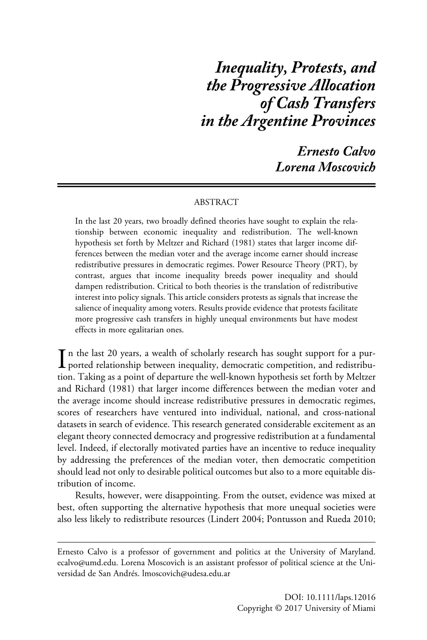 Cash Pooling Y Precios De Transferencia Pdf Inequality Protests And The Progressive Allocation Of