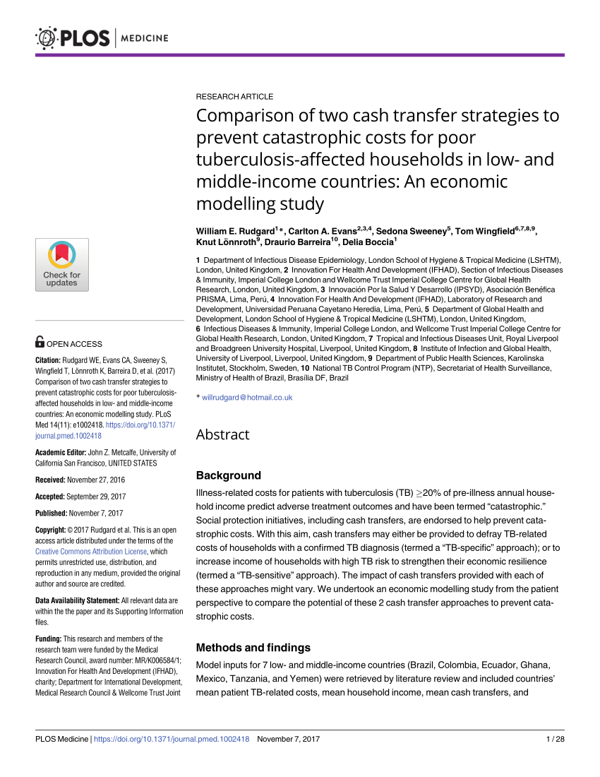 Cash Pooling Y Precios De Transferencia Pdf Comparison Of Two Cash Transfer Strategies To Prevent