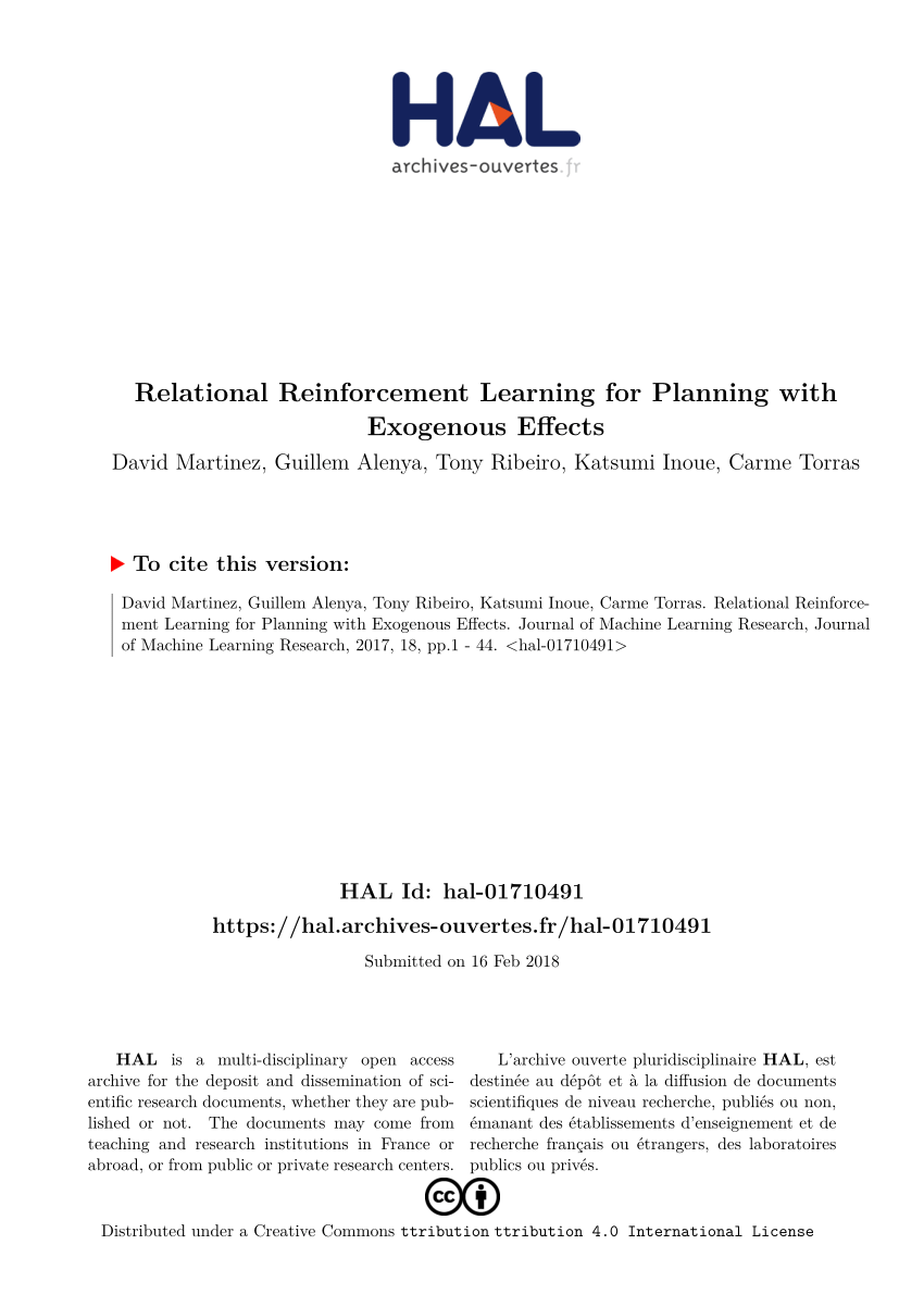 Renforce Learning Reinforcement Learning Improves Behaviour From Evaluative Feedback