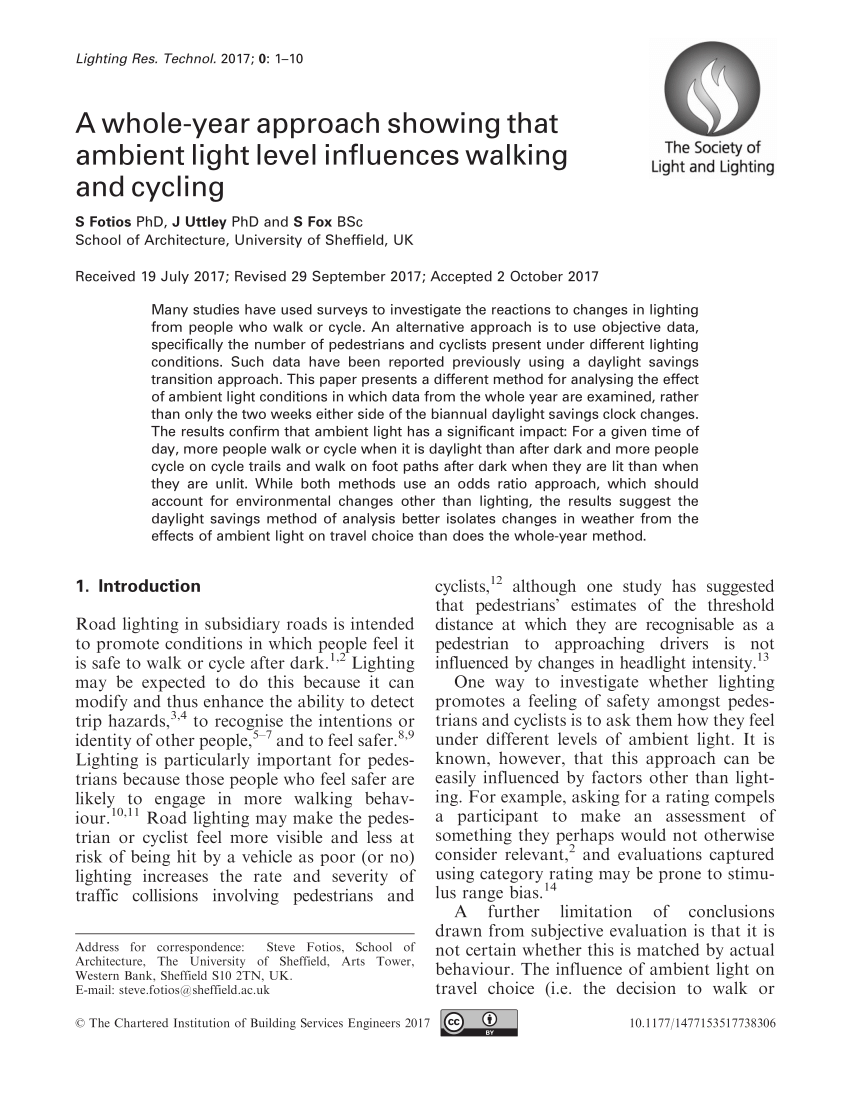 Jb Lighting P6 Bedienungsanleitung Pdf Road Lighting Research For Drivers And Pedestrians The Basis