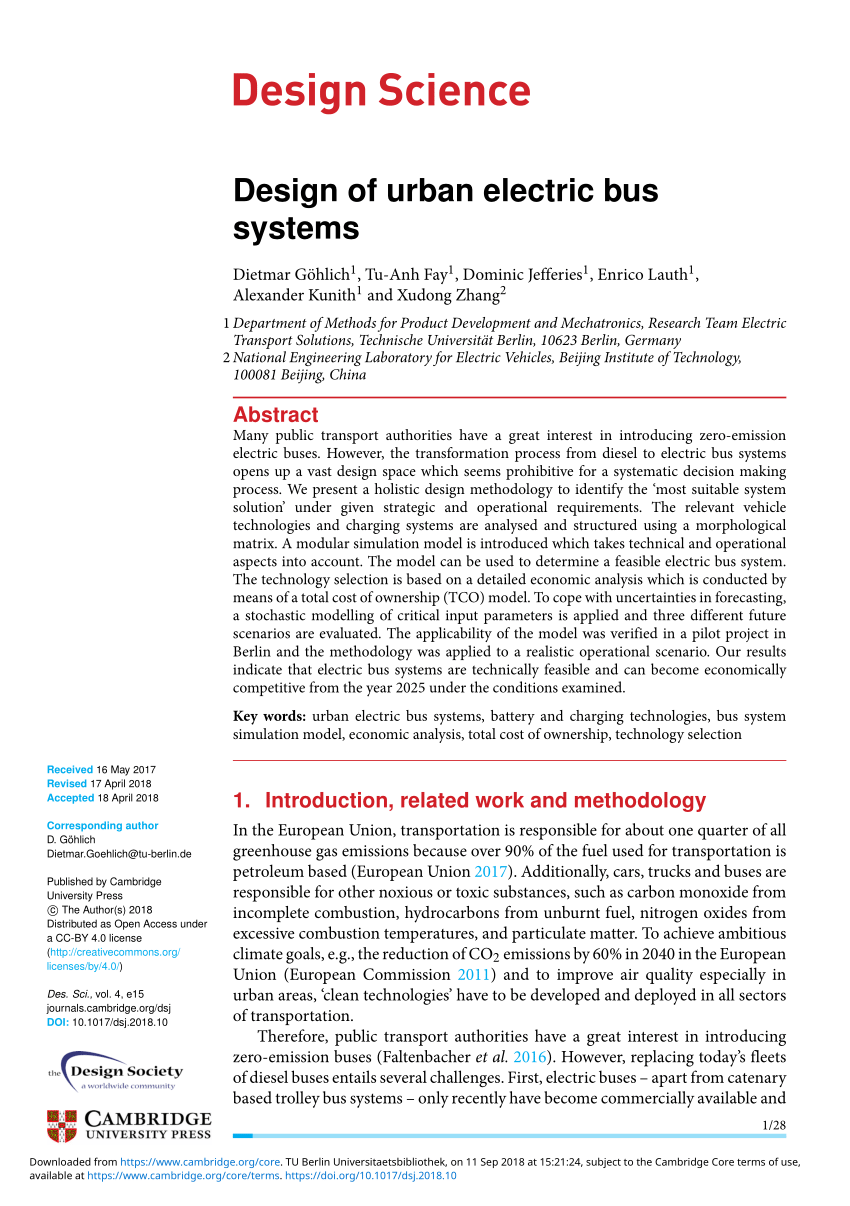 Bus Berlin Braunschweig Pdf Technology Assessment Of An Electric Urban Bus System For Berlin