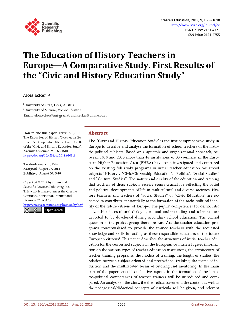 Arbeitsagentur Indeed Pdf The Education Of History Teachers In Europe A Comparative