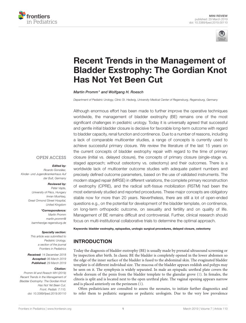 Second Hand Kinderkleidung Regensburg Pdf Recent Trends In The Management Of Bladder Exstrophy