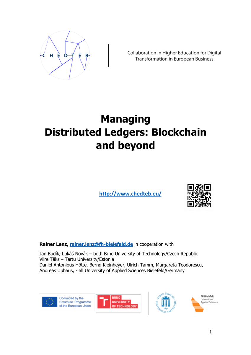 Cash Pool Norderstedt Pdf Managing Distributed Ledgers Blockchain And Beyond