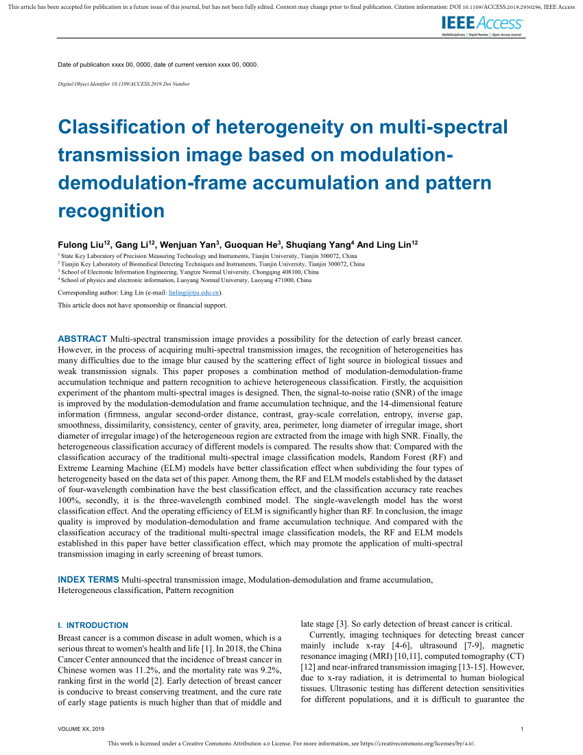 Large Frame Pattern Recognition Pdf Classification Of Heterogeneity On Multi Spectral