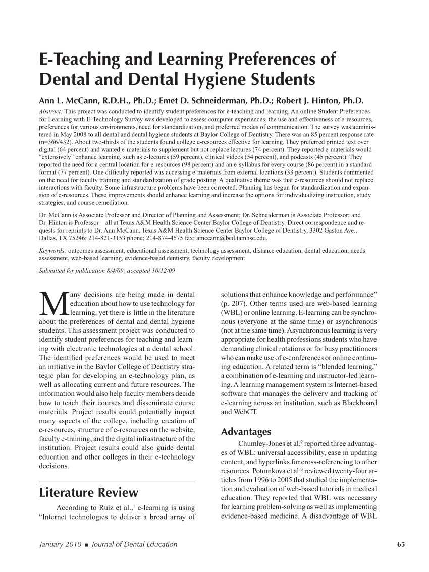 Arte Dental Dallas Social Networks In Dental Training Opinion Of Students From A