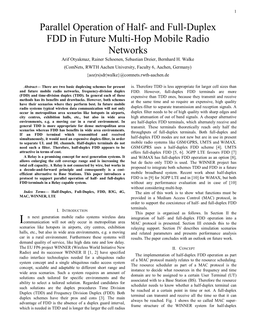 Rs Möbel Aachen Pdf Parallel Operation Of Half And Full Duplex Fdd In Future