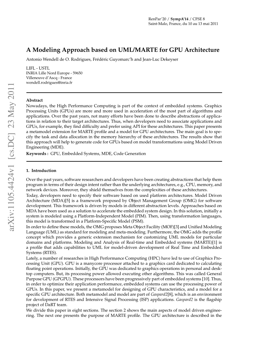 Arte Et Marte Cs Go Pdf A Modeling Approach Based On Uml Marte For Gpu Architecture