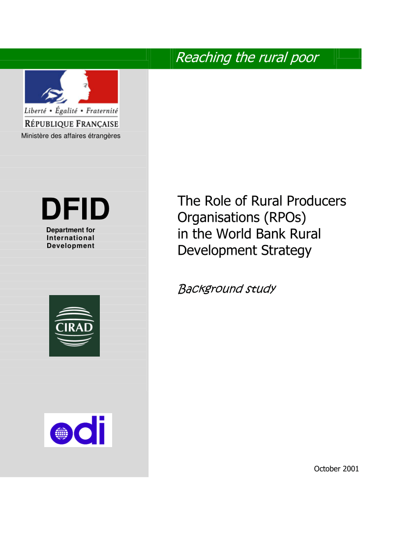 Cash Pool C'est Quoi Pdf The Role Of Rural Producers Organizations In The World Bank