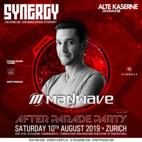 Madwave Live @ SYNERGY After Parade Party - Alte Kaserne Zurich (10.08.2019)