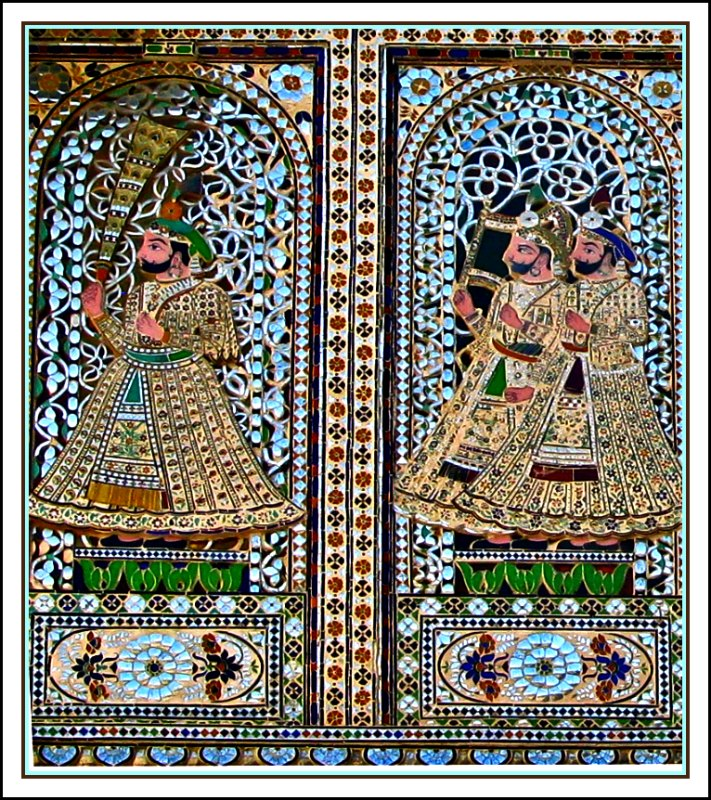 Metal Wall Covering Indian Tiles, A Photo From Rajasthan, West | Trekearth