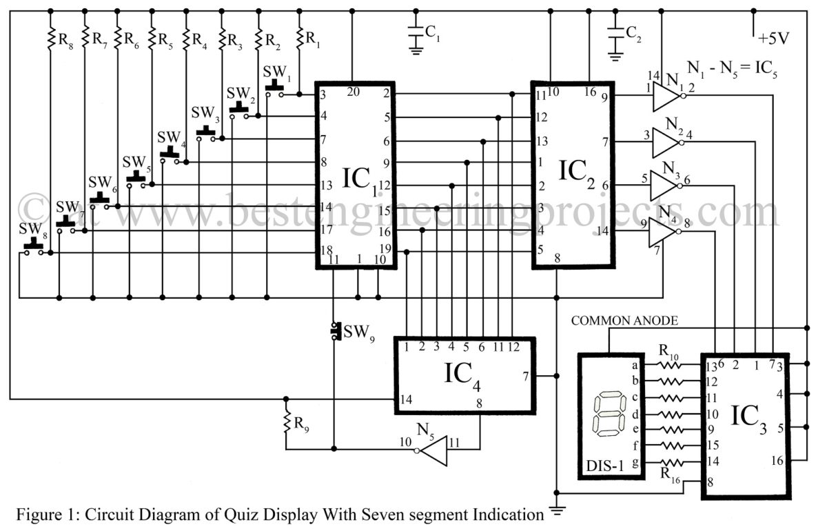 bcd to 7 segment display circuit