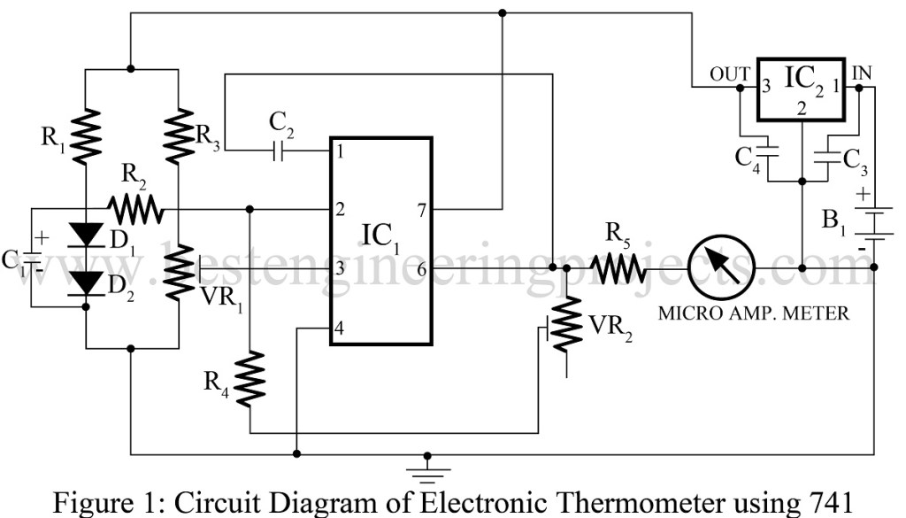 electronic thermometer circuit electronic thermometer circuit
