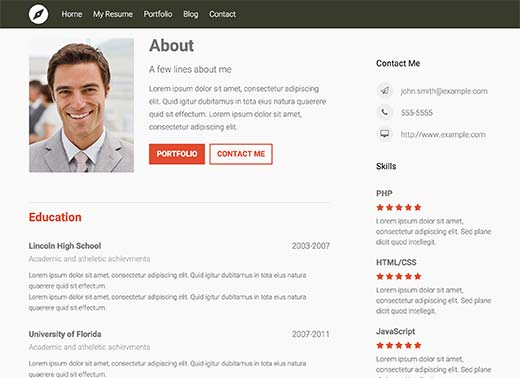 comment creer un cv avec wordpress
