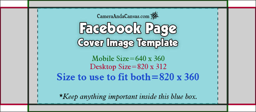 Social Media Image Sizes and Templates \u2013 Camera and a Canvas - facebook header template