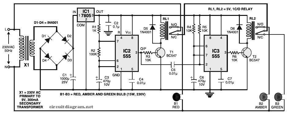 circuit diagram using 7805