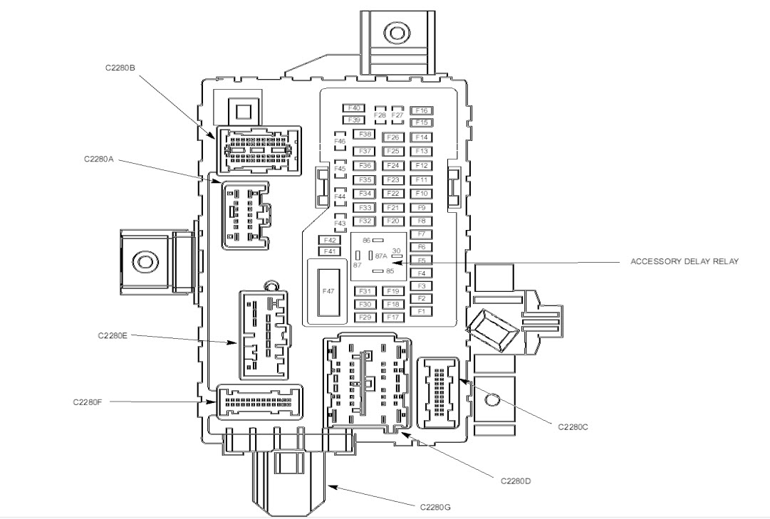 2012 ford mustang interior fuse box diagram