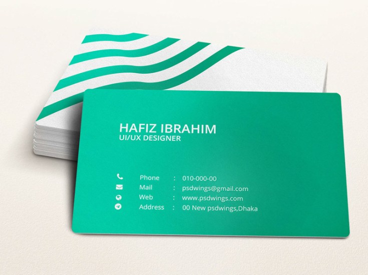 free resume business card template