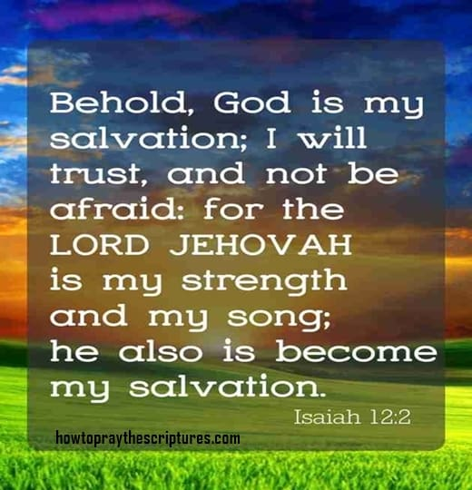 Inspirational Quotes Clean Wallpaper Behold God Is My Salvation I Will Trust And Not Be Afraid