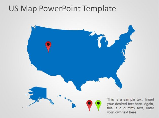 us map ppt template - Thevillas - us map ppt template