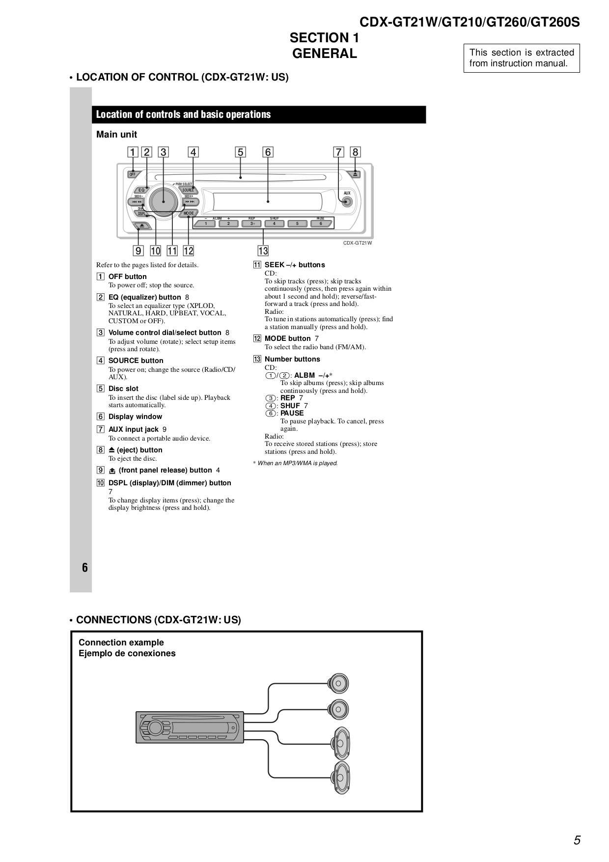 car stereo wiring diagram for cdx gt210
