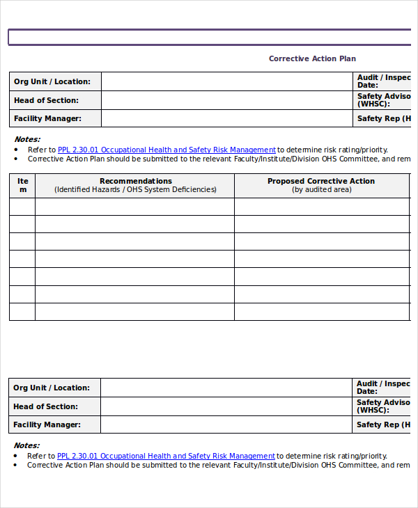 Action Plan Template - 15 + Emergency, Corrective, Incident - emergency action plan template