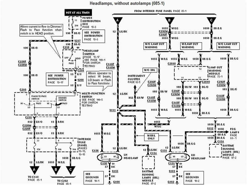 Ford Fusion Headlight Wiring Diagram Wiring Schematic Diagram