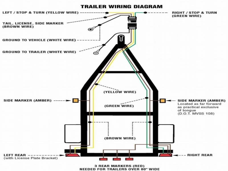 4 prong trailer plug wire diagram