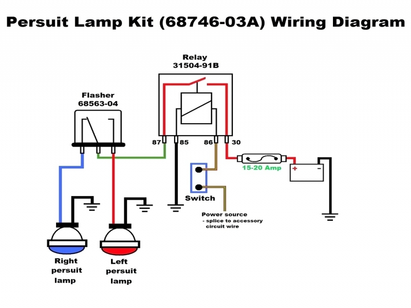 wiring diagram car spotlights