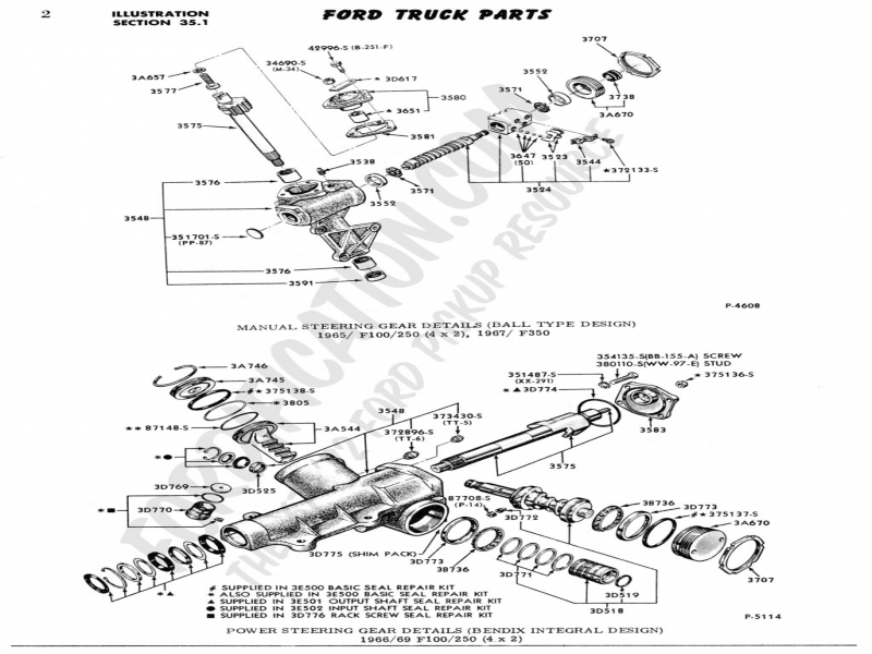 ford truck technical drawings and schematics section c steering