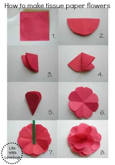 how do you make a flower out of construction paper