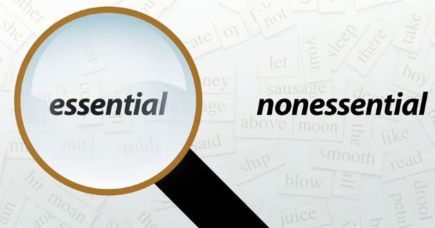 The Comma and Essential  Non-essential Clauses